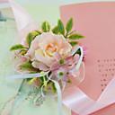 """baratos Bouquets de Noiva-Bouquets de Noiva Buquê de Pulso Casamento Festa / Noite Festa de Noivado Festa/Coquetel Tule Cetim 1.18""""(Aprox.3cm)"""