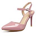 olcso Menyasszonyi cipők-Női Cipő Bőrutánzat Tavasz / Nyár Kényelmes Szandálok Tűsarok Erősített lábujj Csat Fekete / Bézs / Rózsaszín