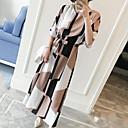 hesapli makyaj fırça setleri-Kadın's Büyük Bedenler Çalışma Kombinezon Elbise - Geometrik Maksi / Diz-boyu / Yaz
