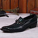 cheap Men's Slip-ons & Loafers-Men's Shoes Nappa Leather Spring / Fall Formal Shoes Oxfords Black / Party & Evening