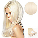 cheap Tape in Hair Extensions-Tape In Human Hair Extensions Straight Human Hair Extensions Human Hair Platinum Blonde