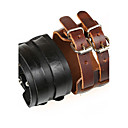 cheap Men's Bracelets-Men's Leather Bracelet - Leather Unique Design, Vintage, Punk Bracelet Black / Brown For Christmas Gifts / Party / Daily