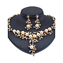 cheap Wedding Shoes-Women's Jewelry Set - Imitation Pearl Flower Classic, Fashion, Euramerican Include Gold For Christmas Gifts Wedding Party / Special Occasion / Anniversary / Birthday / Housewarming / Congratulations