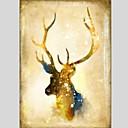 halpa Eläinmaalaukset-Hang-Painted öljymaalaus Maalattu - Eläimet Klassinen Moderni Kangas