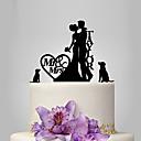 povoljno Figure za tortu-Figure za torte Vrt Tema / Klasični Tema / rustikalni Tema Par Classic Opeka Vjenčanje / godišnjica / Djevojačka večer s OPP
