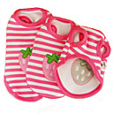 povoljno Odjeća za psa-Mačka Pas T-majica Odjeća za psa Dungi Voće Pink Pamuk Kostim Za Ljeto Cosplay Vjenčanje