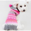 cheap Dog Clothes-Dog Sweater Dog Clothes Geometic Fuchsia Silk Fabric Cotton Costume For Pets Men's Women's Casual/Daily Fashion