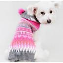 preiswerte Hundekleidung-Hund Pullover Hundekleidung Geometrisch Fuchsia Seidenstoff Baumwolle Kostüm Für Haustiere Herrn Damen Lässig/Alltäglich Modisch
