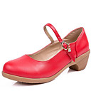זול מתנות לחתונה-בגדי ריקוד נשים נעליים מודרניות דמוי עור עקבים עקב נמוך ללא התאמה אישית נעלי ריקוד בז' / פוקסיה / אדום