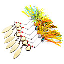 cheap Fishing Lures & Flies-6 pcs Metal Bait Spinner Baits Buzzbait & Spinnerbait Lures Metal Bait Buzzbait & Spinnerbait Lead Sea Fishing Bait Casting Spinning