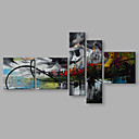 cheap LED Strip Lights-Oil Painting Hand Painted - Landscape Artistic Abstract Modern / Contemporary Canvas