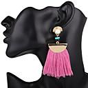 cheap Earrings-Women's Tassel Drop Earrings - Tassel, Oversized Red / Blue / Pink / Purple For Wedding / Party / Special Occasion