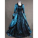 cheap Pendant Lights-Rococo Victorian Costume Women's Dress Party Costume Masquerade Blue Vintage Cosplay Satin Long Sleeve Cap Sleeve Floor Length Ball Gown Plus Size Customized