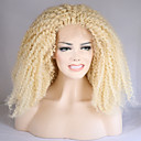 cheap Synthetic Capless Wigs-Synthetic Lace Front Wig Curly Blonde Synthetic Hair Natural Hairline Blonde Wig Women's Medium Length / Long Lace Front Light Blonde