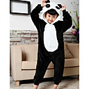 cheap Kigurumi Pajamas-Kid's Kigurumi Pajamas Panda Onesie Pajamas Flannel Toison Black Cosplay For Boys and Girls Animal Sleepwear Cartoon Halloween Festival / Holiday