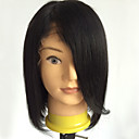 cheap Human Hair Wigs-Human Hair Full Lace Wig Straight Wig 130% Hair Density Natural Hairline African American Wig 100% Hand Tied Women's Medium Length Human Hair Lace Wig