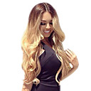 povoljno Perike s ljudskom kosom-Ljudska kosa Full Lace Perika Beyonce stil Brazilska kosa Tijelo Wave Ombre Perika 130% Gustoća kose s dječjom kosom Ombre Prirodna linija za kosu Afro-američka perika 100% rađeno rukom Žene Kratko