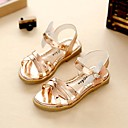 cheap Girls' Dresses-Girls' Shoes Leatherette Summer Fall Light Soles Comfort Flower Girl Shoes Sandals Walking Shoes Rhinestone for Dress Gold Gray Pink