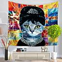 baratos Tapeçarias de parede-Pessoas / Abstrato Decoração de Parede 100% Poliéster Abstracto / Padrão Arte de Parede, Tapetes de parede Decoração