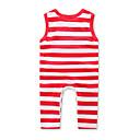 ieftine Set Îmbrăcăminte Băieți Bebeluși-Bebelus Fete Linii Dungi / Modă Fără manșon Bumbac Salopetă Fucsia 100 / Copil