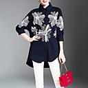 abordables Soportes y Monturas para Coche-Mujer Tejido Oriental Trabajo Estampado Camisa, Cuello Camisero Floral / Primavera / Verano