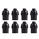 cheap Bakeware-8 Pcs Bakelite Socket E26/E27 Vintage Screw Bulbs Edison Ceiling Retro Pendant Lamp Holder Without Switch