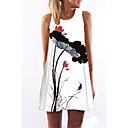 cheap Jewelry Sets-Women's Floral Weekend Mini Shift Dress - Floral White, Print Summer White L XL XXL