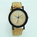 baratos Spinners de mão-Mulheres Relógio de Pulso de madeira Couro Banda Flor / Casual / Fashion Bege / Um ano / Tianqiu 377