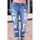 cheap Men's Necklaces-Women's Plus Size Skinny Skinny Pants - Solid Color Pure Color