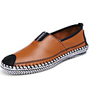 cheap Men's Slip-ons & Loafers-Men's Comfort Loafers Leather Fall / Winter Loafers & Slip-Ons Black / Light Brown / Party & Evening