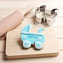 hesapli Çerez Araçları-Bakeware araçları Paslanmaz Çelik Çevre-dostu / Tatil / 3D Ekmek / Kek / Kurabiye Bebek uyku Pişirme Kalıp 1pc