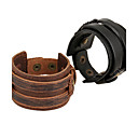 cheap Bracelets-Men's Women's Leather Leather Bracelet - Natural Fashion Irregular Black Brown Bracelet For Special Occasion Gift Sports