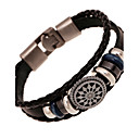 cheap Religious Jewelry-Men's Leather Bracelet - Leather Natural, Fashion Bracelet White / Black / Brown For Special Occasion / Gift / Sports