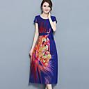 זול עגילים אופנתיים-דפוס שמלה נדן מידות גדולות בגדי ריקוד נשים