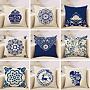 cheap Pillow Covers-1 pcs Cotton / Linen Pillow Cover / Pillow Case, Floral / Novelty / Classic Pattern / Classic / Retro