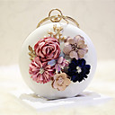 cheap Necklaces-Women's Bags PU(Polyurethane) Shoulder Bag Flower Solid Colored White / Pale Pink