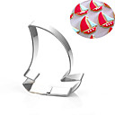cheap Cookie Tools-Sailboat Corsair Pirate Ship Cookies Cutter Stainless Steel Cake Mold Metal Baking Tools