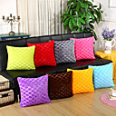 cheap Pillow Covers-1 pcs Velvet Pillow Cover / Pillow Case, Solid Colored / Striped / Geometric Casual / Modern / Contemporary / Retro