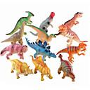 baratos Figuras de dinossauro-Dragões & Dinossauros Figura do dinossauro Triceratops Dinossauro jurássico Velociraptor Silicone Plástico Crianças Para Meninos Para Meninas Brinquedos Dom