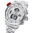 baratos Smartwatches-Homens Relógio Esportivo / Relógio Militar / Relógio de Pulso Japanês Calendário / Impermeável / Criativo Aço Inoxidável Banda Amuleto / Luxo / Casual Preta / Prata / Luminoso / Noctilucente