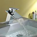 povoljno Slavine za umivaonik-suvremena umjetnost deco / retro moderni centerets vodopadni keramički ventil jednostruka ručica jedna rupa krom, kupaonica sudoper slavina slavina za kupanje