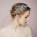cheap Party Headpieces-Tulle Tiaras Headbands with Feather 1 Event / Party Headpiece