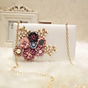 cheap Clutches & Evening Bags-Women's Bags PU Evening Bag Flower Black / Blushing Pink / Peach