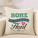 cheap Pillow Covers-1 pcs Cotton / Linen Pillow Cover / Pillow Case, Quotes & Sayings / Fashion / Letter Retro / Traditional / Classic / Euro