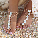 cheap Anklet-Pearl Barefoot Sandals - Imitation Pearl Drop Fashion Gold / Silver For Daily Casual Women's / Rhinestone