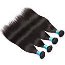olcso Természetes színű póthajak-4 csomópont Brazil haj Egyenes Szűz haj Az emberi haj sző Emberi haj sző Human Hair Extensions