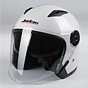 baratos Capacetes e Máscaras-Jiekai motocicleta capacete unisex scooter motos capacetes casco capacete com lente dupla