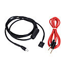 cheap Car Emergency Tools-KKmoon AUX Input Mode Cable 3.5mm Female Dash Mountable Socket for BMW E46 98-06 Audio Cable for Phone MP3 Player