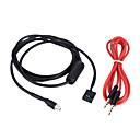 baratos Ferramentas de Emergência para carros-Kkmoon aux-input cable de modo 3,5 mm fêmea dobrável soquete de montagem para bmw e46 98-06 cabo de áudio para o telefone mp3 player