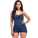 baratos Roupas de Mergulho & Camisas de Proteção-Mulheres Nadador Esportes / Com Laço Maiô - Sólido